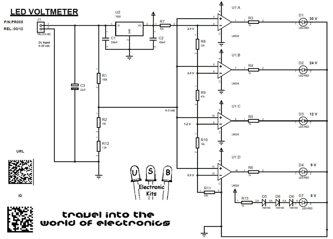 Led Voltmeter Diagram Excellent Electrical Wiring House Block Of Multimeter Pr005 Usbekits Rh Com Circuit Schematic